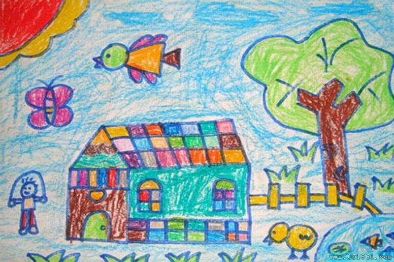 房子-蜡笔画图集9