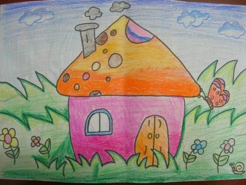 房子-蜡笔画图集10