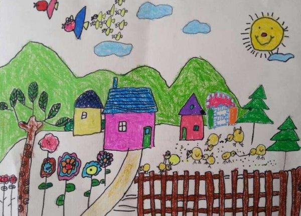 房子-蜡笔画图集12