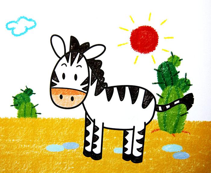 斑马-蜡笔画图集