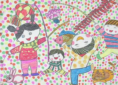 新年-蜡笔画图集2