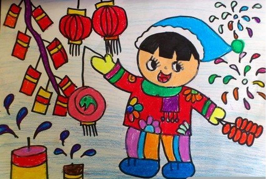 新年-蜡笔画图集7