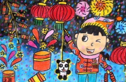 新年-蜡笔画图集9