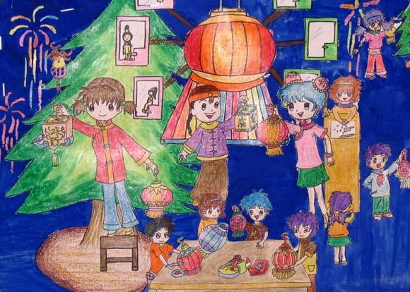 新年-蜡笔画图集10
