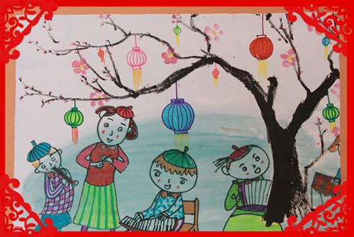 新年-蜡笔画图集11