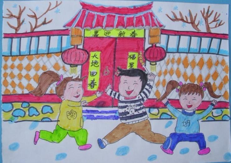 新年-蜡笔画图集14