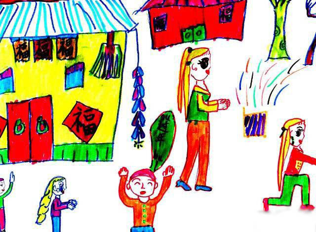 新年-蜡笔画图集17