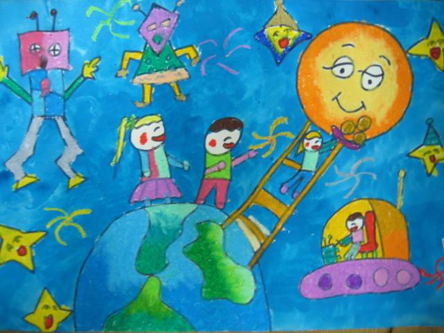 星球-蜡笔画图集