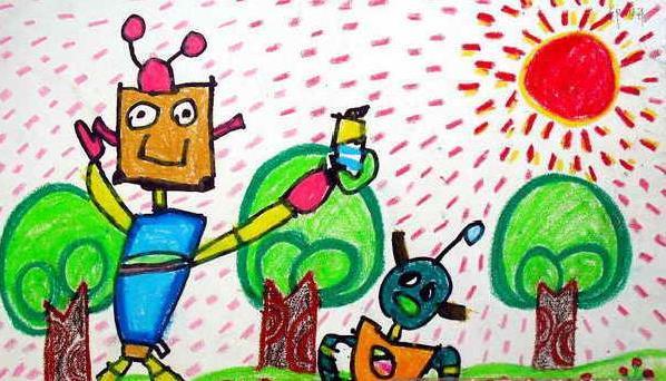 春天-蜡笔画图集