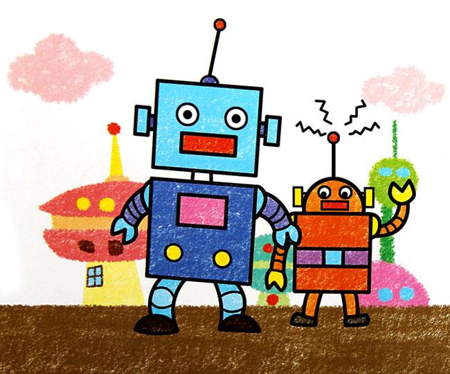 机器人-蜡笔画图集