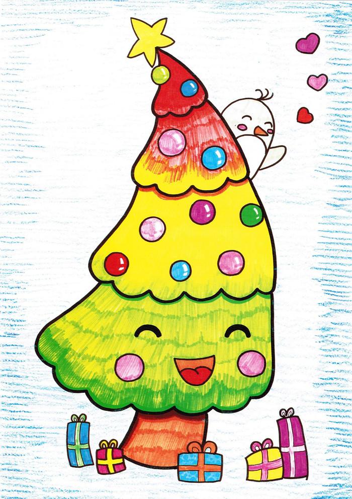 树木-蜡笔画图集
