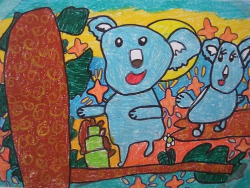 树袋熊-蜡笔画图集