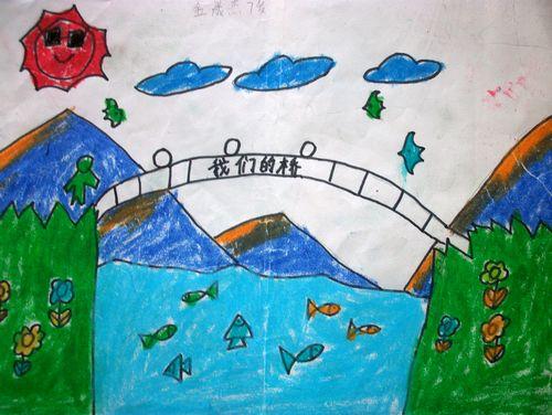 桥-蜡笔画图集