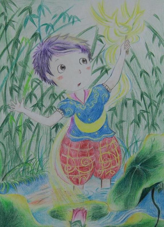 梦-蜡笔画图集