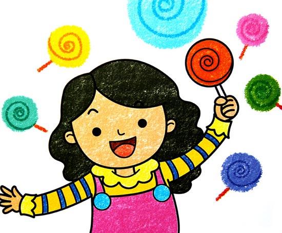 棒棒糖-蜡笔画图集
