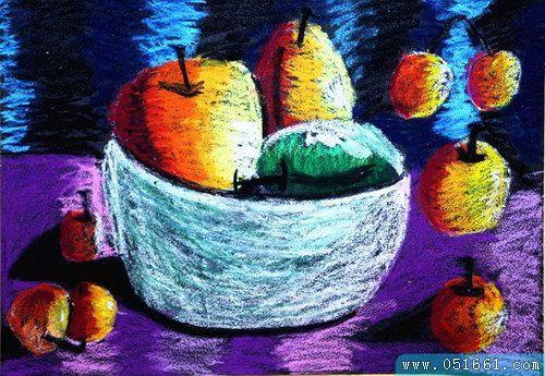 水果-蜡笔画图集3