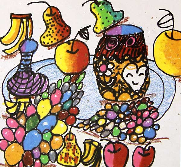 水果-蜡笔画图集4