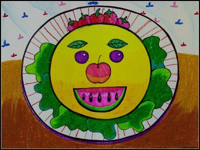 水果-蜡笔画图集5