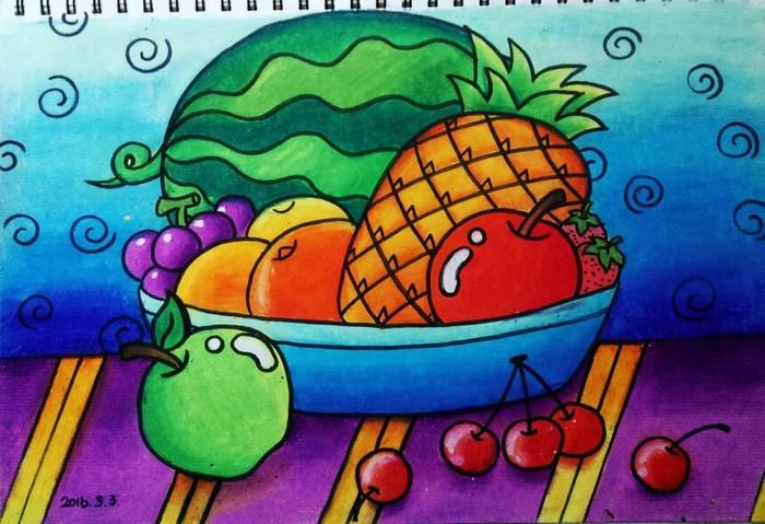 水果-蜡笔画图集7