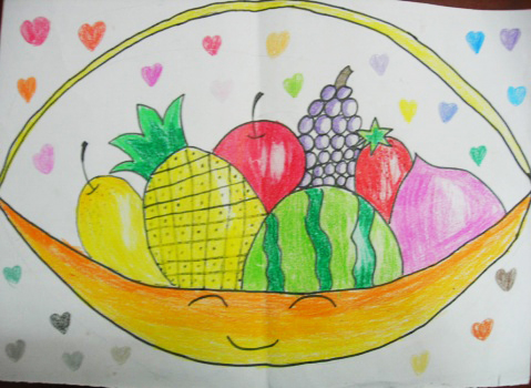 水果-蜡笔画图集8
