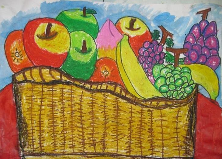 水果-蜡笔画图集9