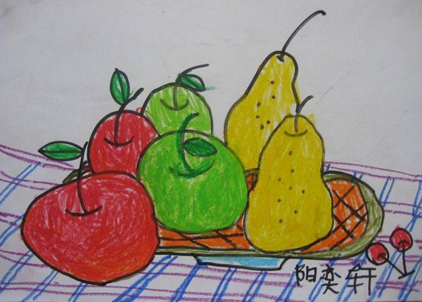 水果-蜡笔画图集10
