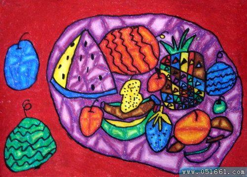 水果-蜡笔画图集11