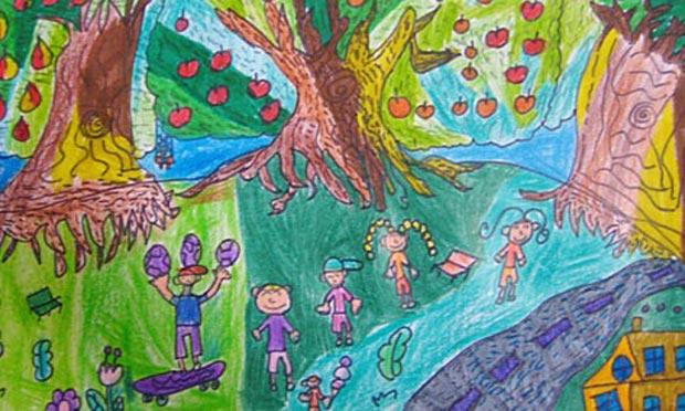 水果-蜡笔画图集13