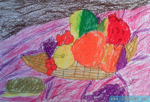 水果-蜡笔画图集14