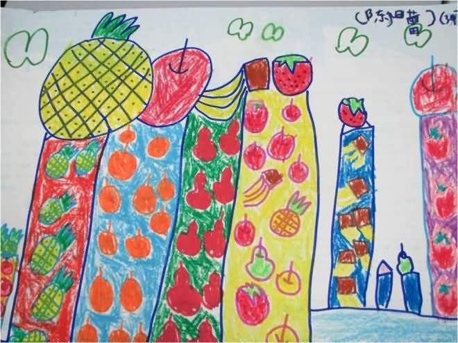 水果-蜡笔画图集15