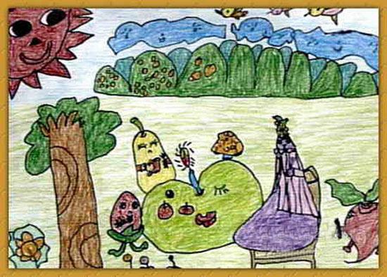 水果-蜡笔画图集16