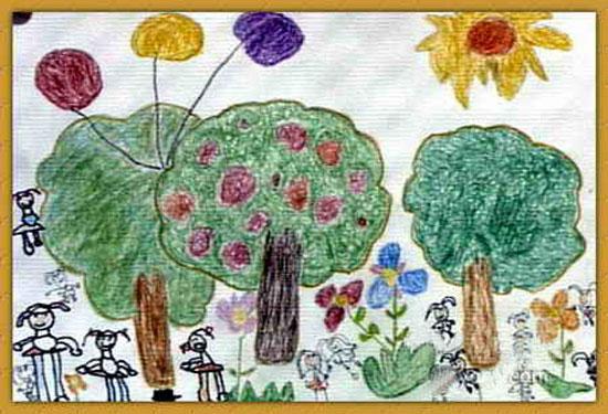水果-蜡笔画图集17
