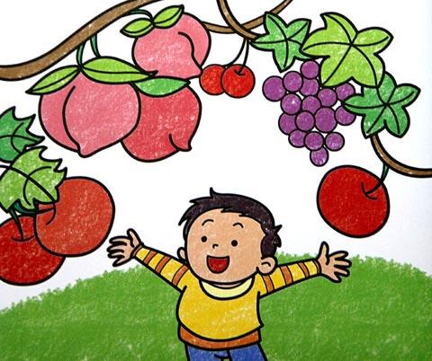 水果-蜡笔画图集18