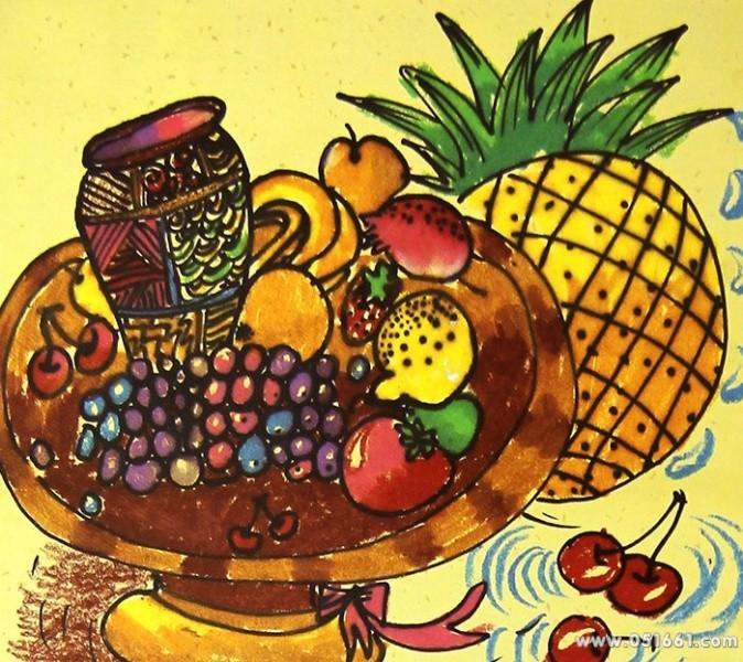 水果-蜡笔画图集20