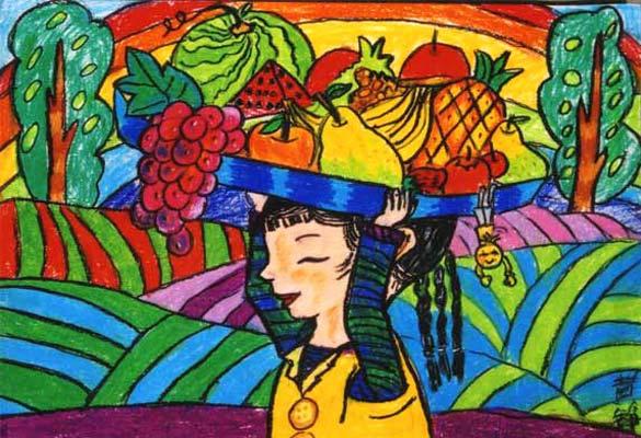 水果-蜡笔画图集21