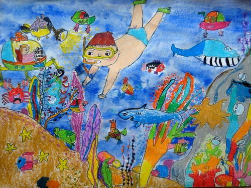 海底世界-蜡笔画图集2