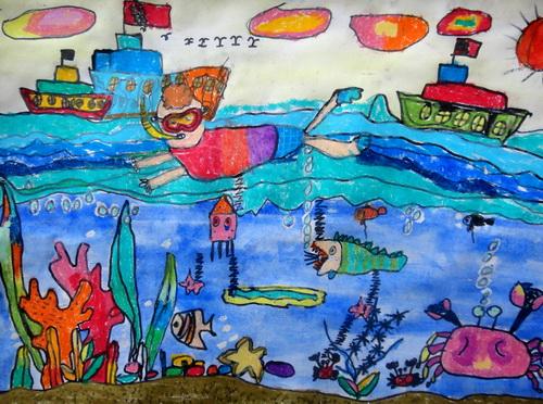 海底世界-蜡笔画图集3