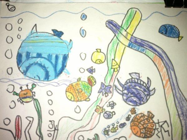 海底世界-蜡笔画图集4