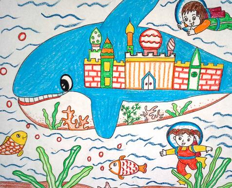 海底世界-蜡笔画图集5