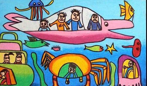 海底世界-蜡笔画图集6