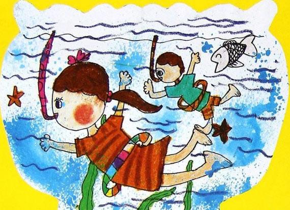 海底世界-蜡笔画图集7