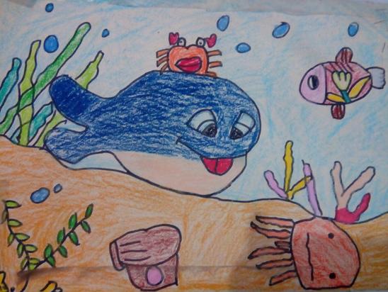 海底世界-蜡笔画图集8
