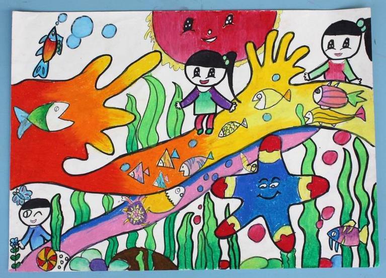 海底世界-蜡笔画图集9