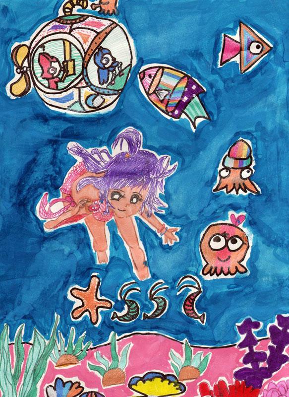 海底世界-蜡笔画图集12