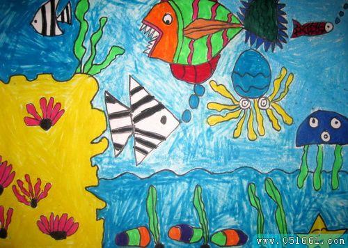 海底世界-蜡笔画图集17