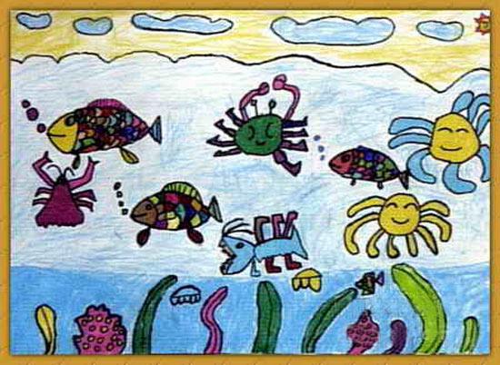 海底世界-蜡笔画图集19