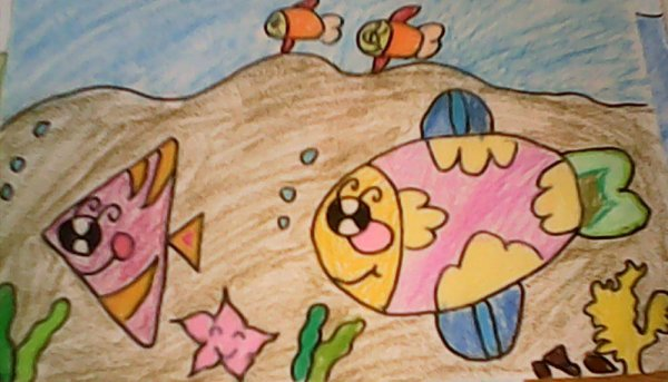 海底世界-蜡笔画图集20