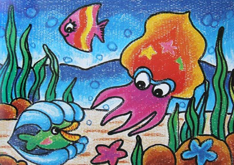 海底世界-蜡笔画图集21
