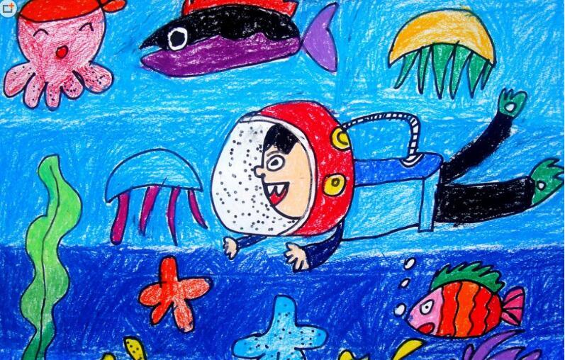 海底世界-蜡笔画图集23
