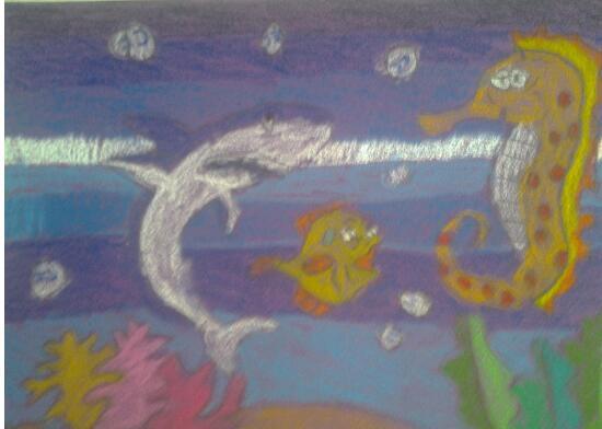 海底世界-蜡笔画图集24